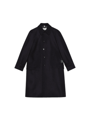Wool loden coat with Gucci label