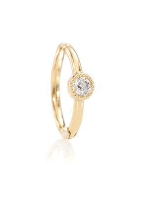 18kt yellow gold single earring with diamond