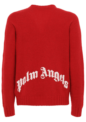 Logo Recycled Wool Blend Knit Sweater
