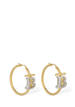 Tb Bicolor Logo Hoop Earrings