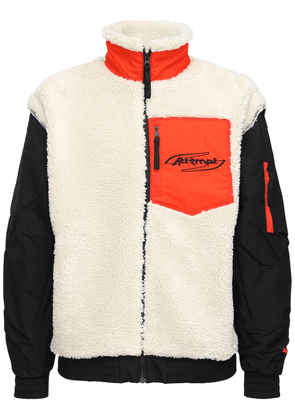 Attempt Faux Shearling Bomber Jacket