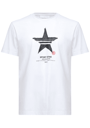 Sport Star Print Cotton Jersey T-shirt