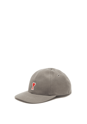 Ami - Ami De Coeur Cotton-twill Cap - Mens - Grey