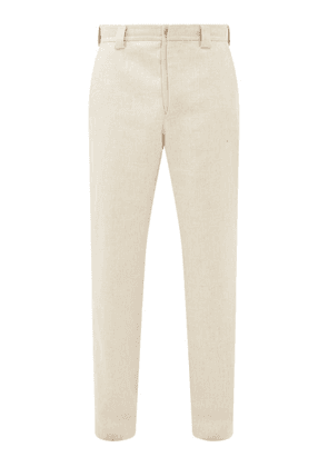 Jacquemus - Wide-leg Wool-blend Trousers - Mens - Beige