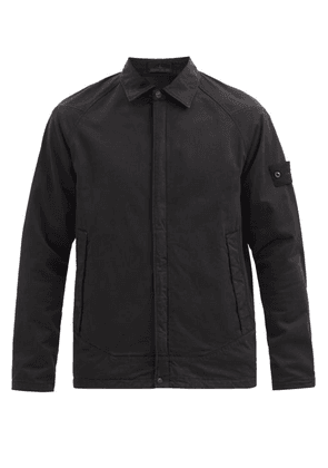 Stone Island - Ghost Piece Cotton-blend Overshirt - Mens - Black