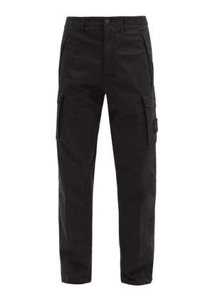 Stone Island - Logo-patch Cotton-blend Cargo Trousers - Mens - Black