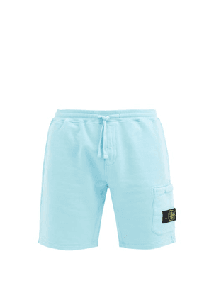 Stone Island - Logo-patch Cotton-jersey Shorts - Mens - Blue