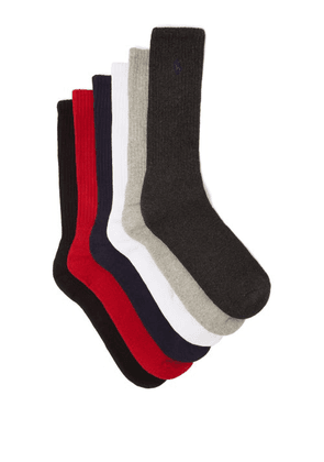 Polo Ralph Lauren - Pack Of Six Logo-embroidered Socks - Mens - Multi
