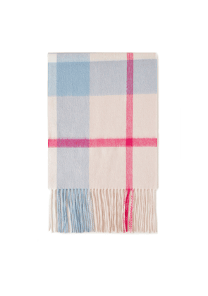 Mulberry Small Check Lambswool Scarf - Icy Pink