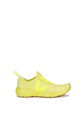 Rick Owens X Veja Neon Yellow Stretch-knit Sneakers