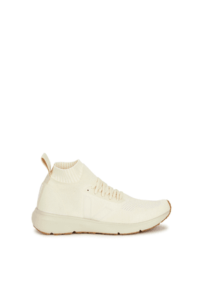 Rick Owens X Veja Off-white Stretch-knit Sneakers
