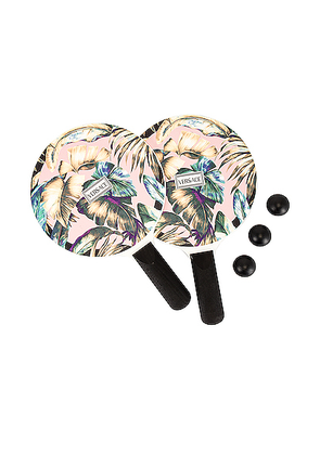 VERSACE Jungle Matkot Set in Pink Multicolor - Green,Floral,Pink,Tropical. Size all.