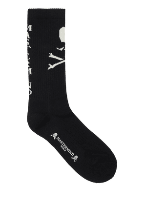 Front Logo Cotton Blend Knit Socks