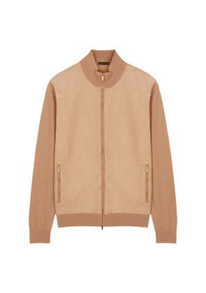 Cream Cashmere Knitted Bomber