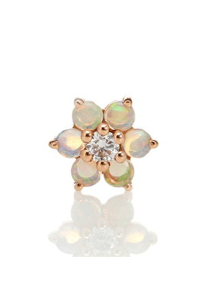 Garland 18kt rose gold single earring with opal and diamond