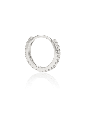 Eternity 18kt white gold single earring with diamonds
