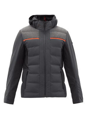 Capranea - Avaloq Hooded Quilted Down Ski Jacket - Mens - Black