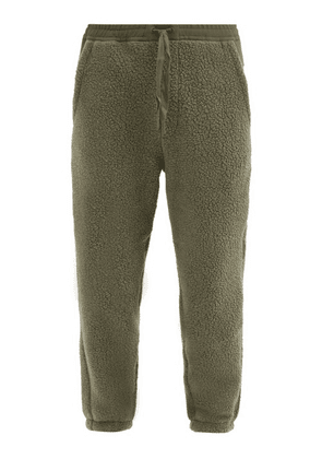 Holden - Faux-shearling Track Pants - Mens - Green