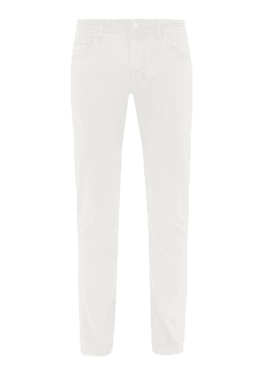 Jacob Cohën - Stretch-cotton Slim-leg Chino Trousers - Mens - White