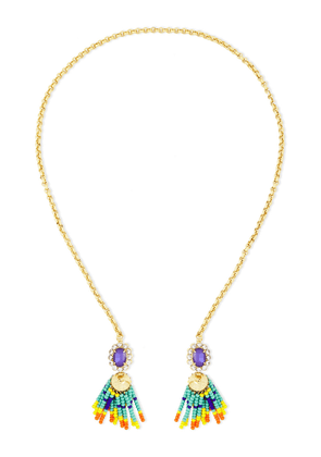 Elizabeth Cole 24-karat Gold-plated, Bead And Crystal Necklace Woman Multicolor Size --