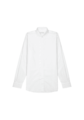 Givenchy White Logo-embroidered Cotton Shirt