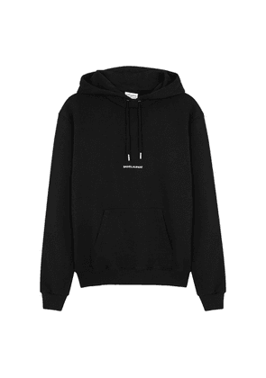 Saint Laurent Black Logo Hooded Cotton Sweatshirt