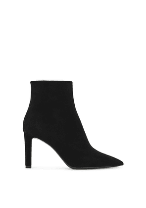 Saint Laurent Kate 85 Black Suede Ankle Boots