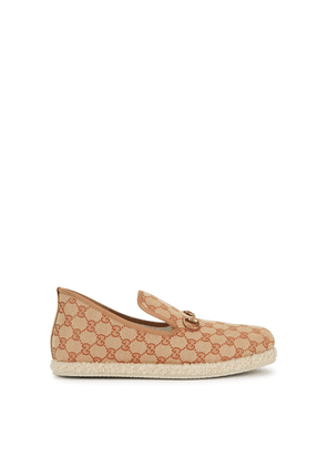 Gucci Fria Monogrammed Canvas Loafers