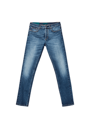 Self Cinema Slim Jean Mid Blue Vintage