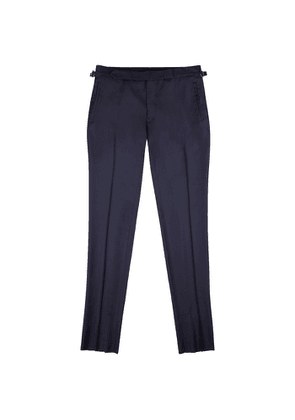 FRÈRE Navy Slim-leg Wool Trousers