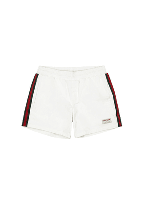 Gucci White Shell Swim Shorts