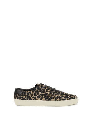 Saint Laurent Court Leopard-print Suede Sneakers