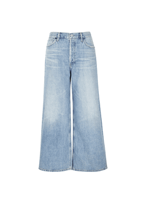 Citizens Of Humanity Serena Blue Cropped Wide-leg Jeans