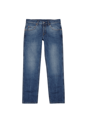 Gucci Blue Cropped Slim-leg Jeans