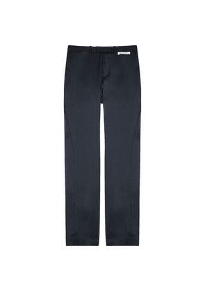 Off-White Navy Silk-satin Trousers