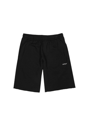 Off-White Stencil Black Cotton Shorts