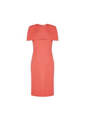 Givenchy Coral Cape-effect Cady Dress