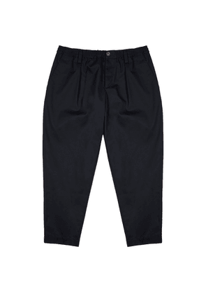 Marni Navy Tapered Twill Trousers
