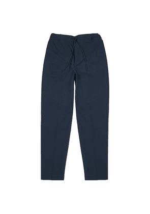 Maison Kitsuné Navy Tapered-leg Trousers