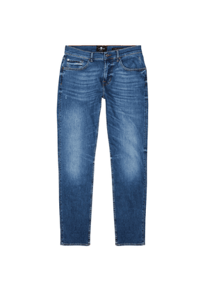 7 For All Mankind Slimmy Tapered Blue Jeans