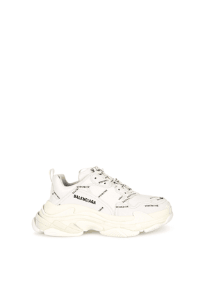 Balenciaga Triple S Allover Logo White Sneakers