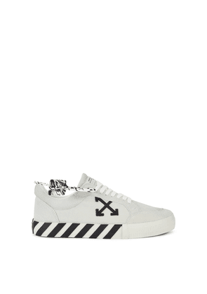 Off-White Low Vulcanized Grey Calf Hair Sneakers