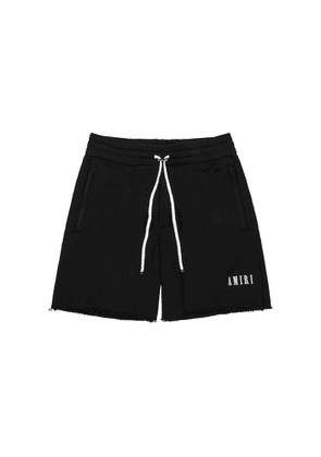 Amiri Black Cotton-jersey Shorts