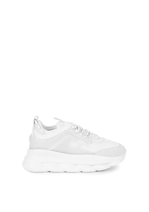 Versace Chain Reaction White Mesh Sneakers