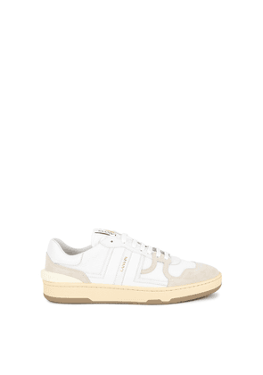 Lanvin Clay Panelled Mesh Sneakers
