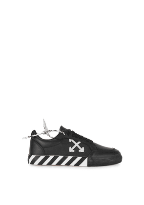 Off-White Low Vulcanized Black Leather Sneakers
