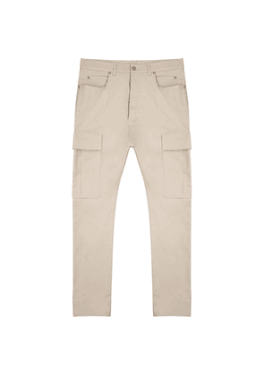 Balmain Sand Cotton-blend Cargo Trousers