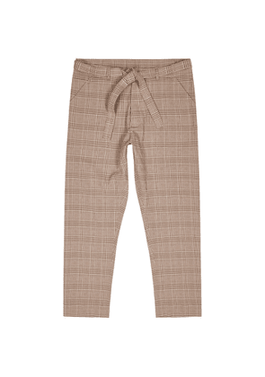 Nanushka Ron Checked Seersucker Trousers