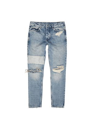 Ksubi Chitch Blue Distressed Slim-leg Jeans