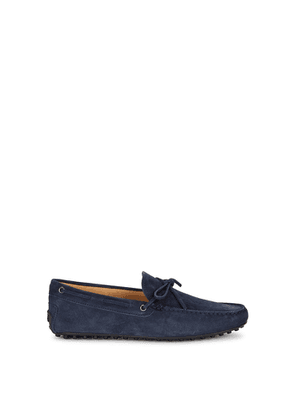 Tod's Gommino Navy Suede Driving Shoes